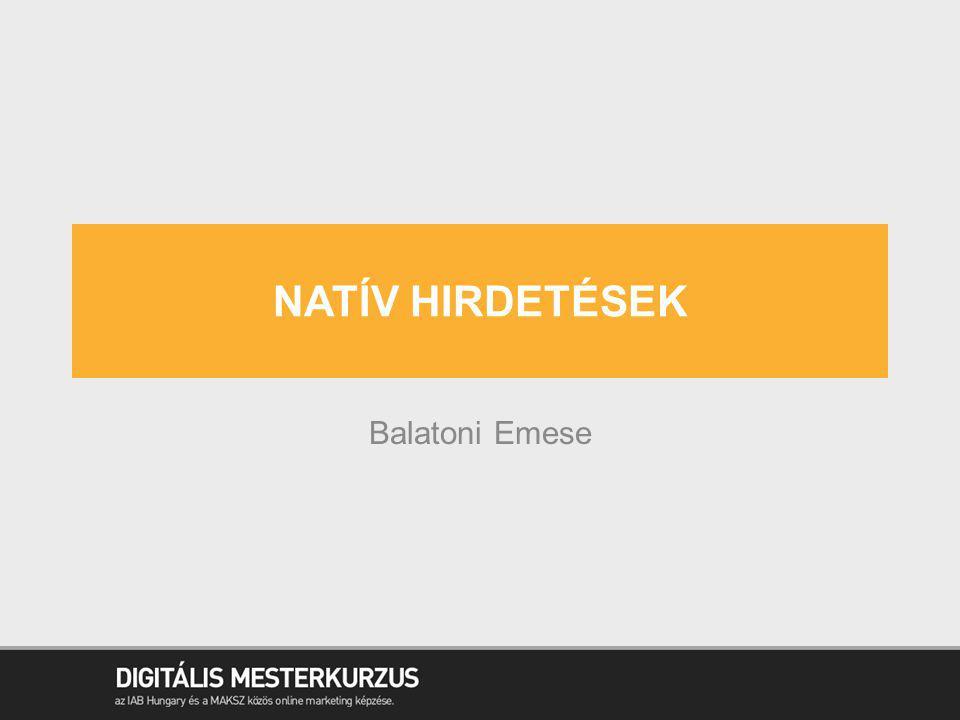 Natív hirdetések Balatoni Emese