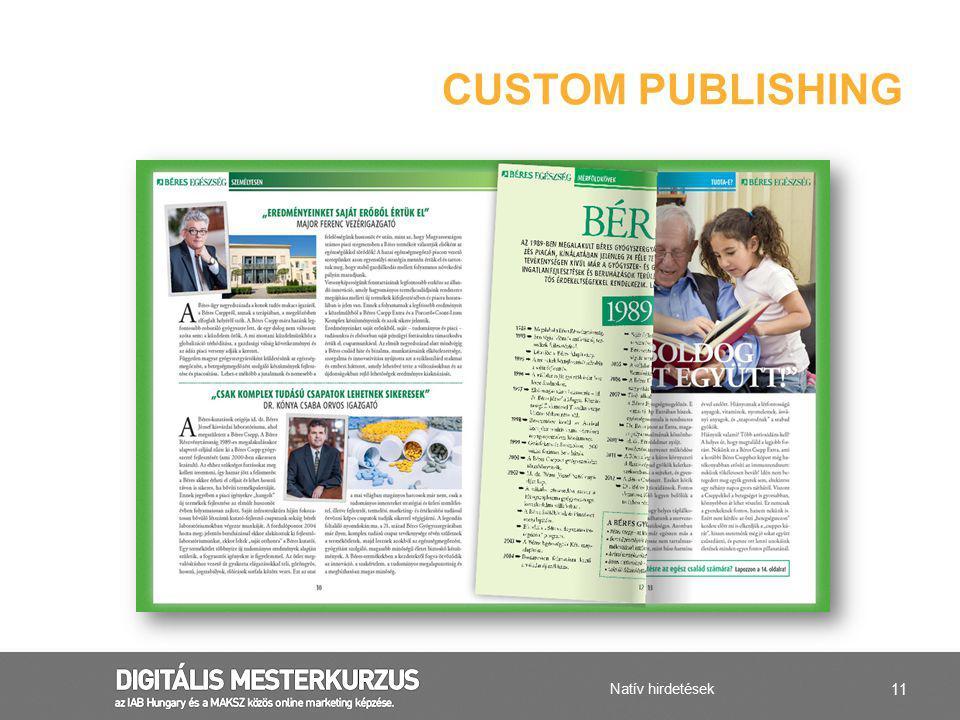 Custom publishing Natív hirdetések