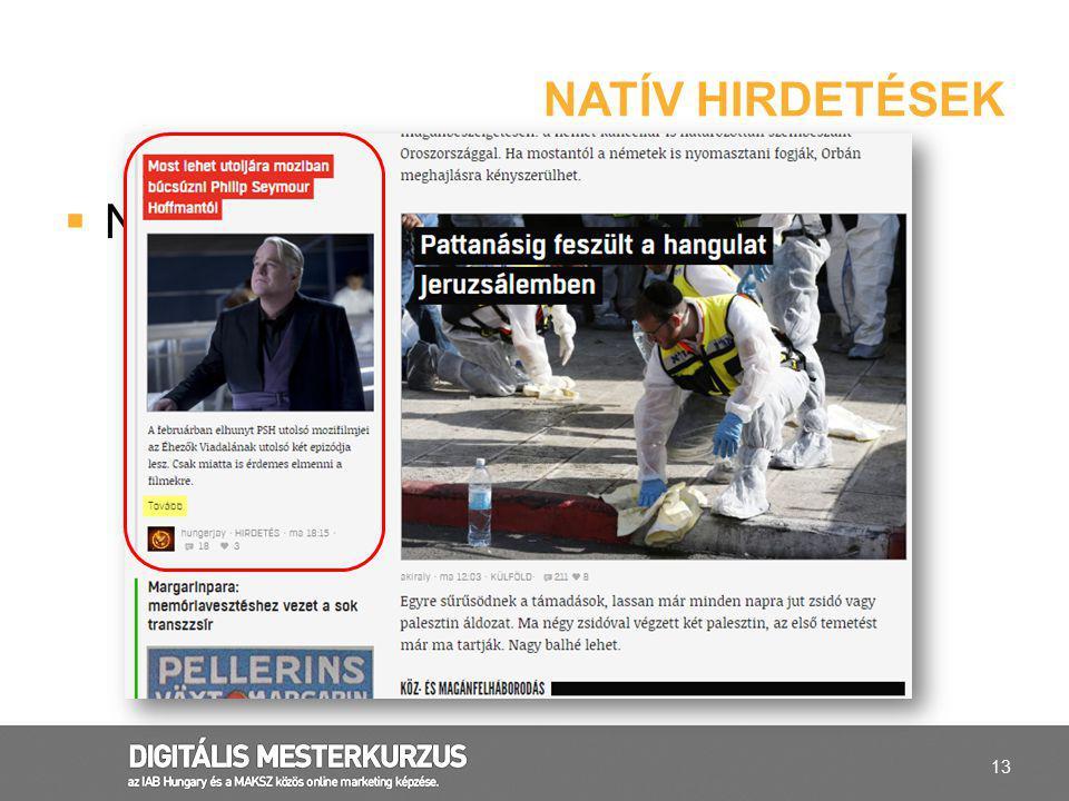 Natív hirdetések Natív hirdetések