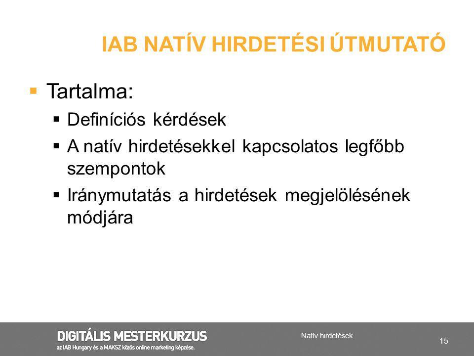 IAB natív hirdetési útmutató