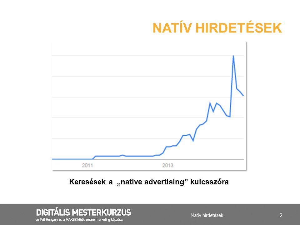 """Keresések a """"native advertising kulcsszóra"""