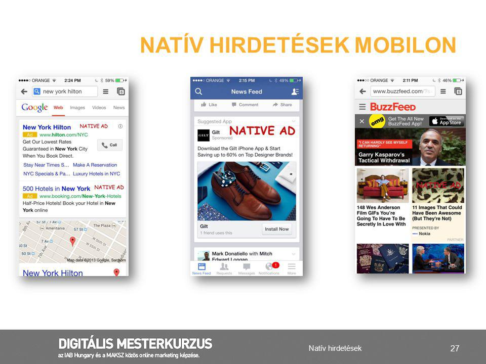 Natív hirdetések mobilon