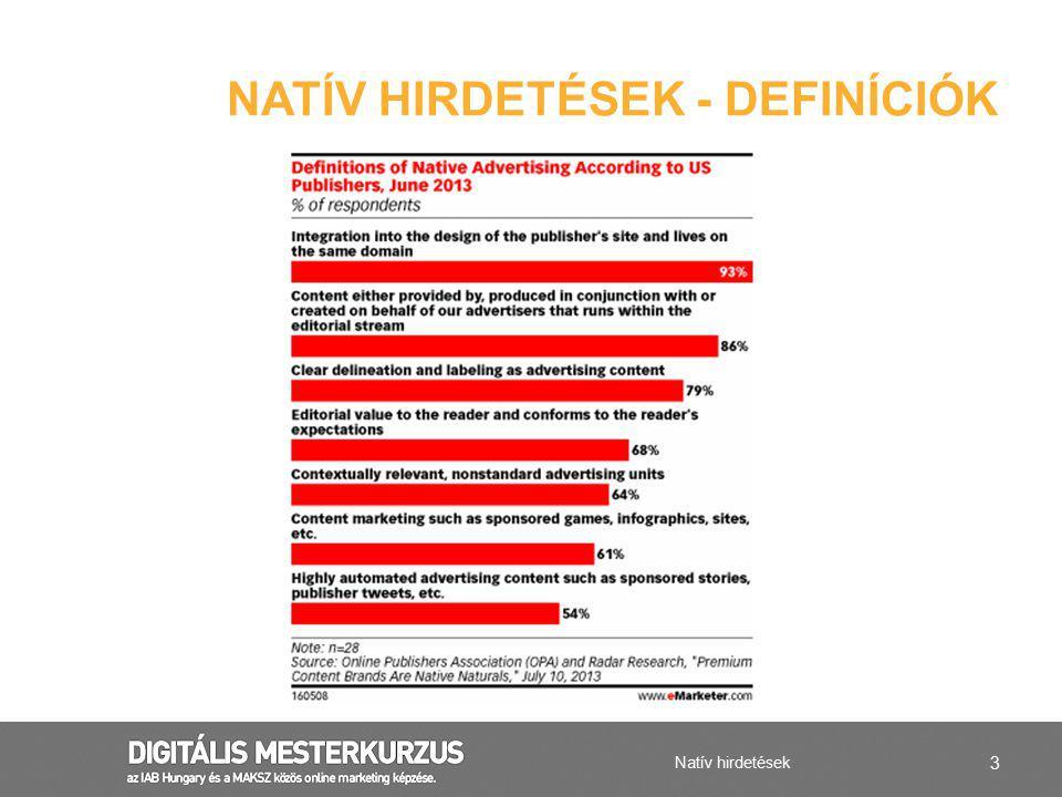 Natív hirdetések - definícióK
