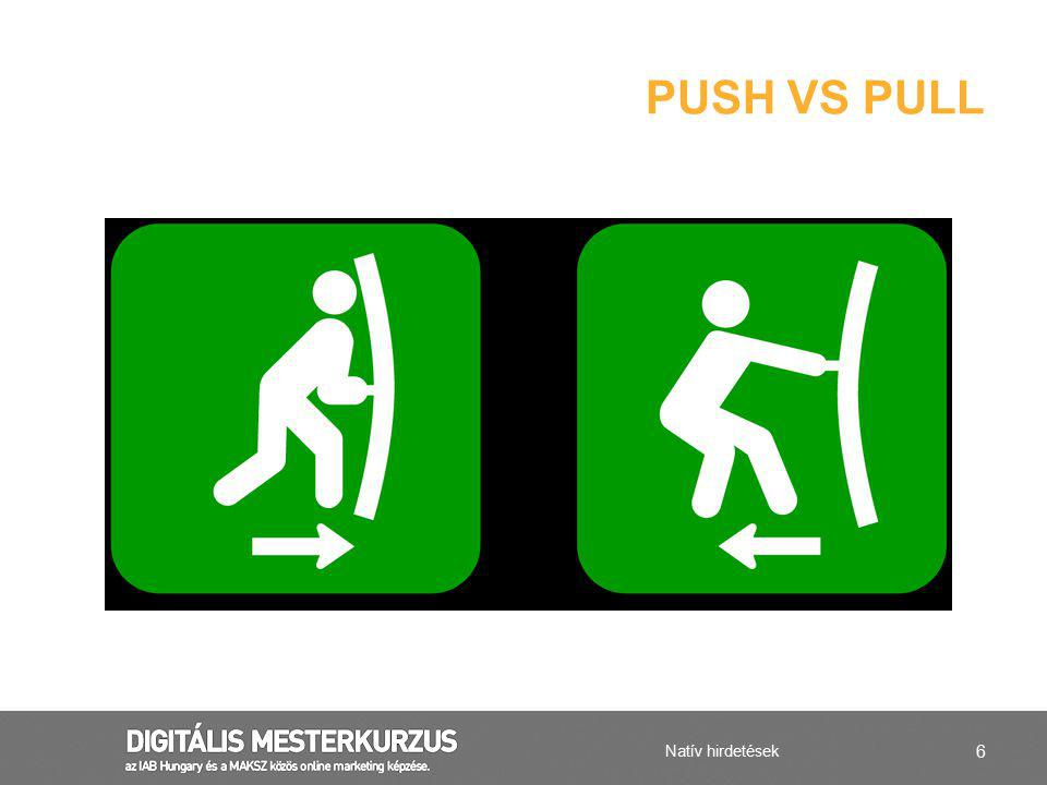 Push vs pull Natív hirdetések
