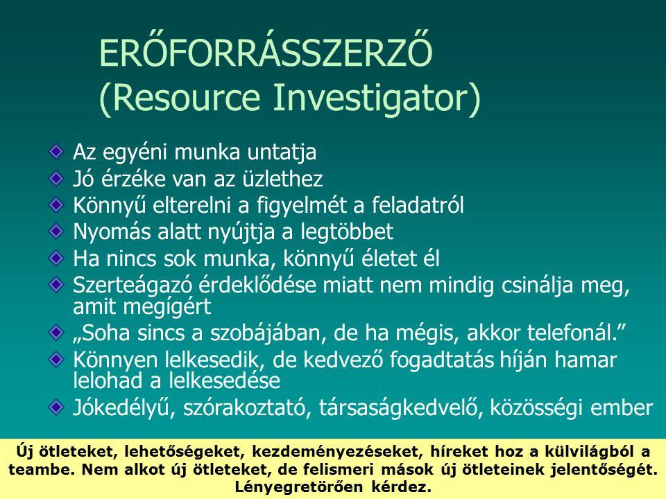 ERŐFORRÁSSZERZŐ (Resource Investigator)
