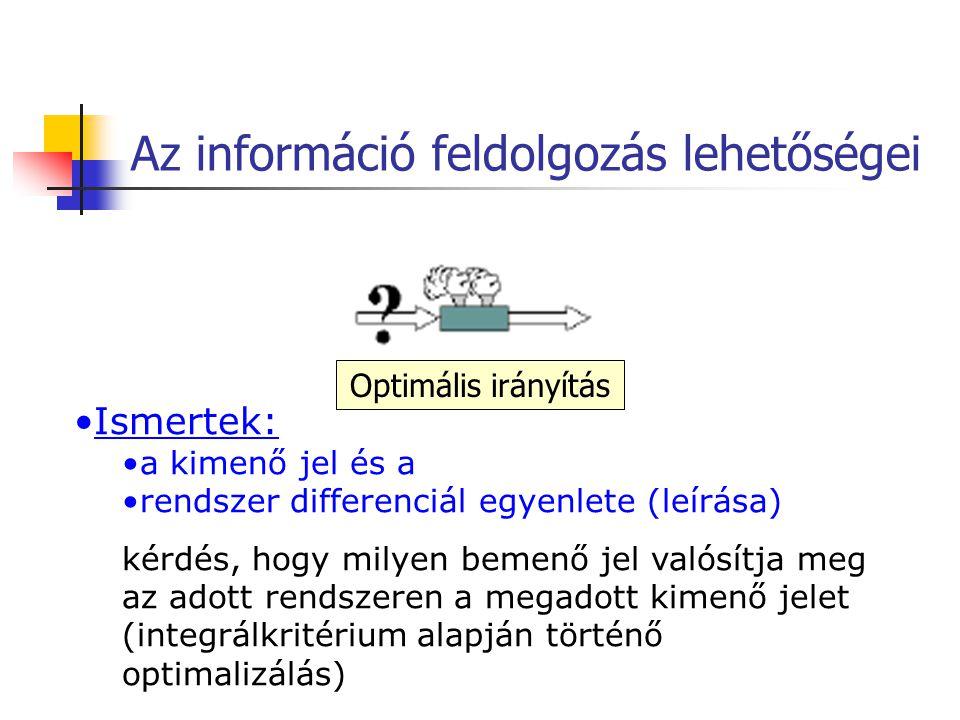Az információ feldolgozás lehetőségei