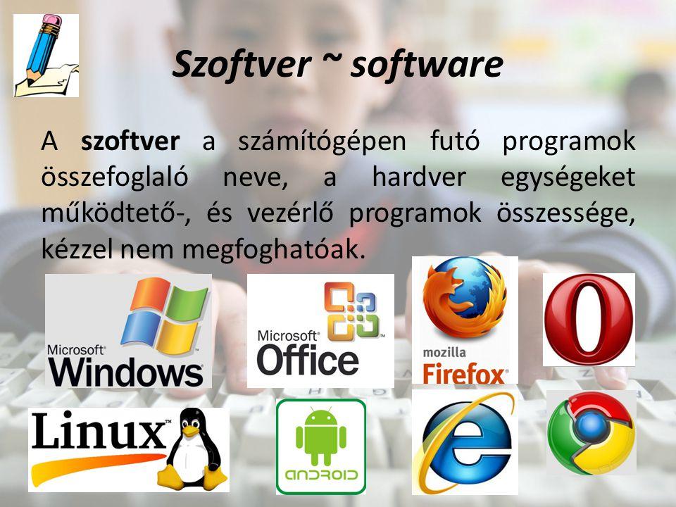 Szoftver ~ software