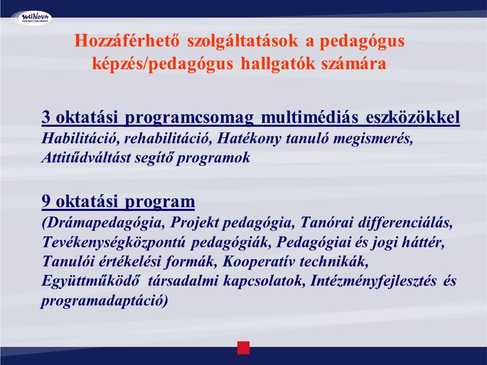 3 oktatási programcsomag multimédiás eszközökkel