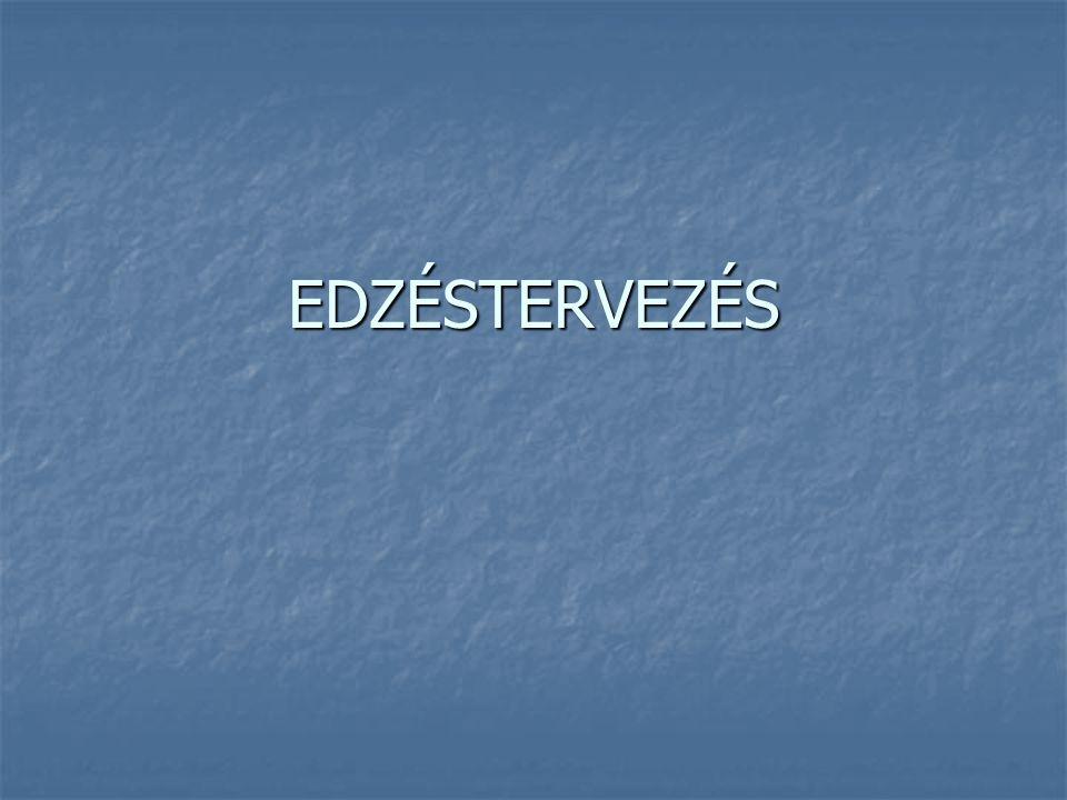 EDZÉSTERVEZÉS