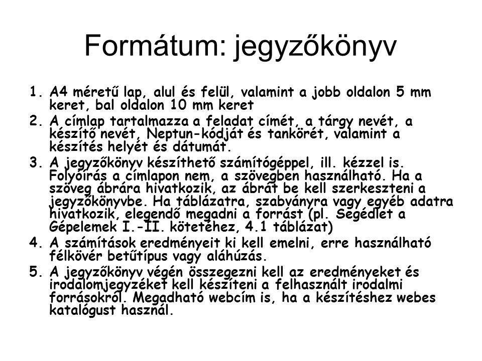 Formátum: jegyzőkönyv