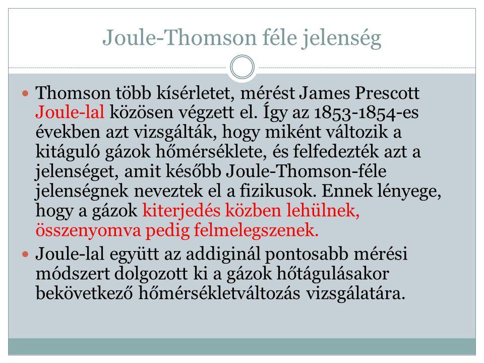 Joule-Thomson féle jelenség