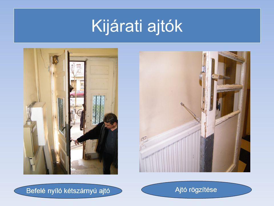 Befelé nyíló kétszárnyú ajtó