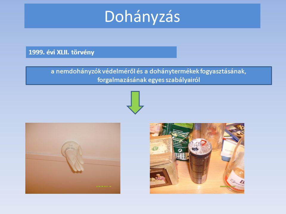 Dohányzás 1999. évi XLII. törvény