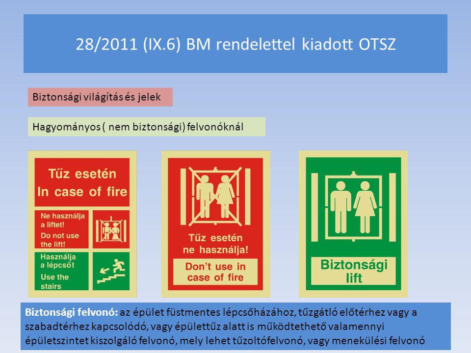 28/2011 (IX.6) BM rendelettel kiadott OTSZ