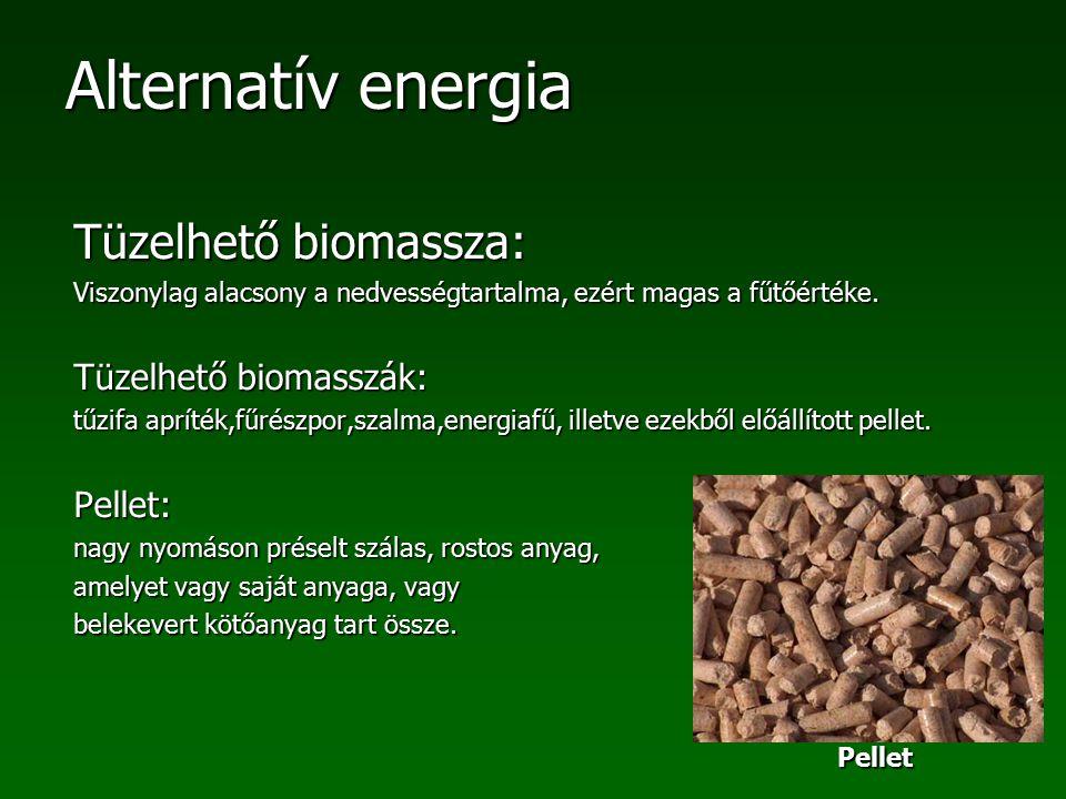 Tüzelhető biomassza: Tüzelhető biomasszák: Pellet: