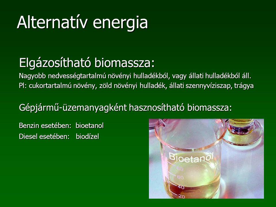 Elgázosítható biomassza:
