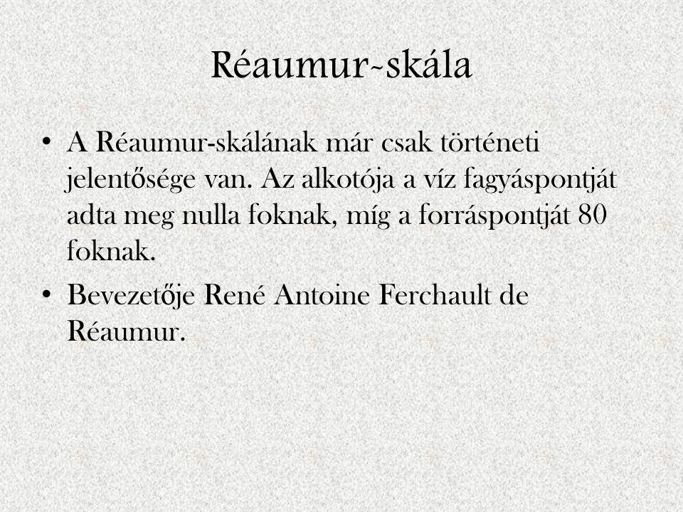 Réaumur-skála