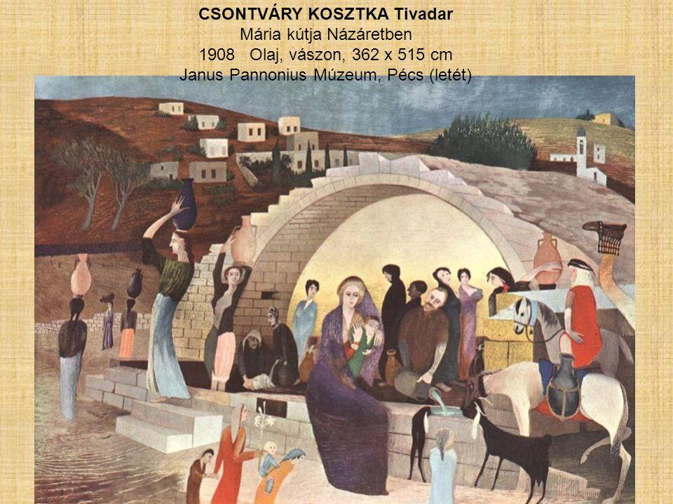 CSONTVÁRY KOSZTKA Tivadar Mária kútja Názáretben 1908 Olaj, vászon, 362 x 515 cm Janus Pannonius Múzeum, Pécs (letét)