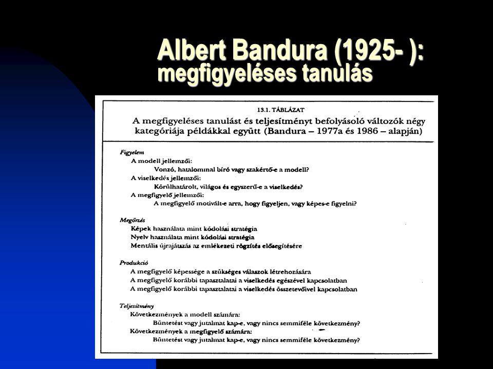 Albert Bandura (1925- ): megfigyeléses tanulás