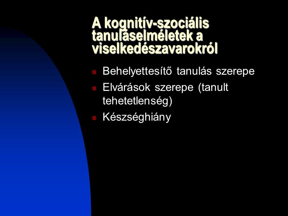 A kognitív-szociális tanuláselméletek a viselkedészavarokról