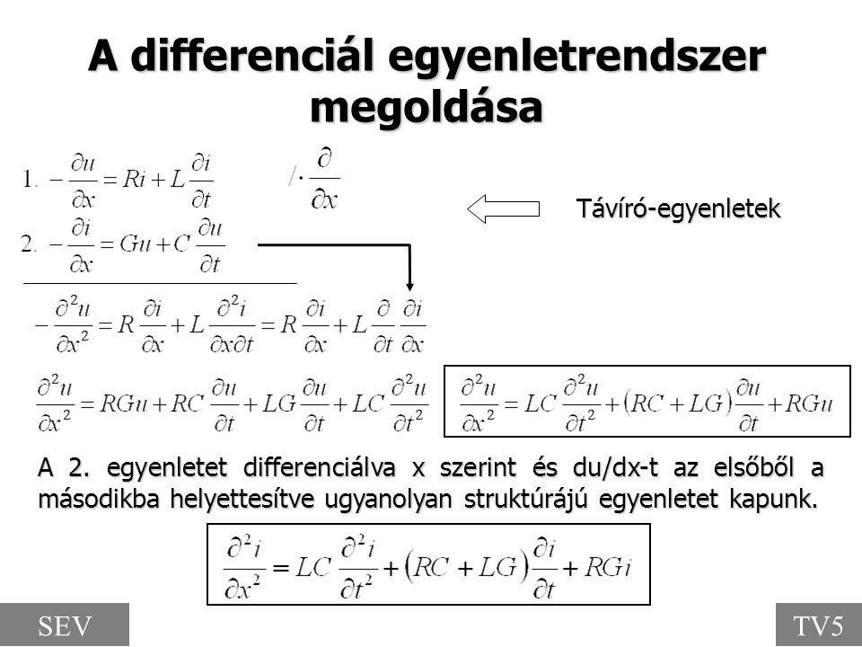 A differenciál egyenletrendszer megoldása