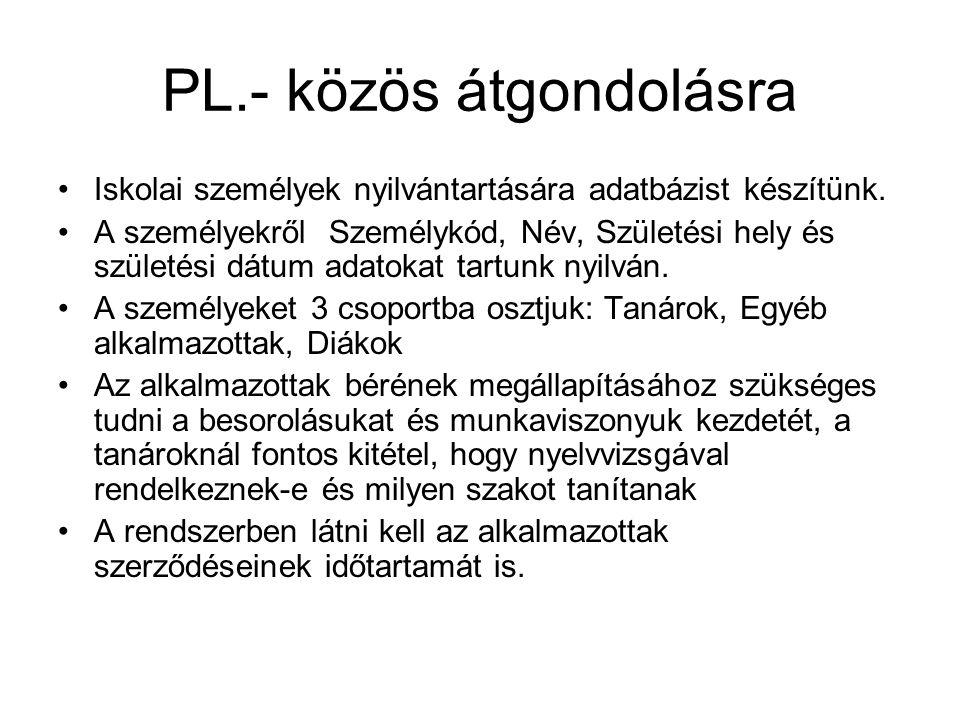 PL.- közös átgondolásra