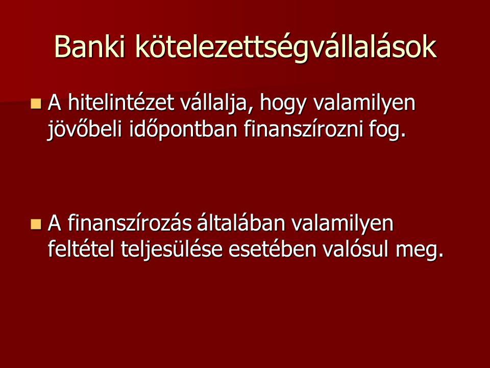 Banki kötelezettségvállalások