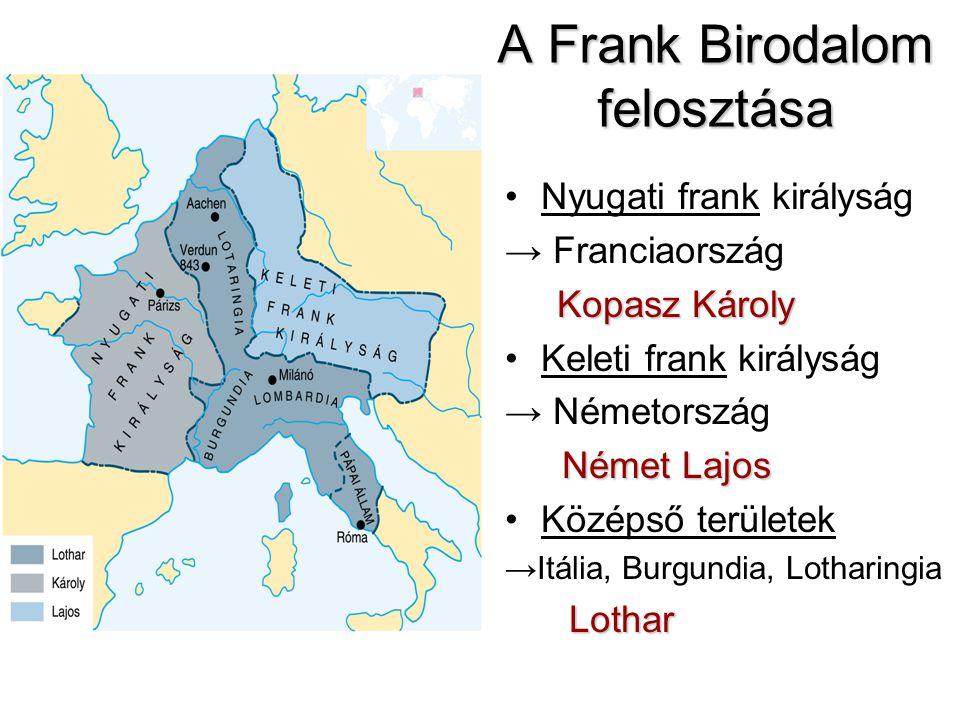 A Frank Birodalom felosztása