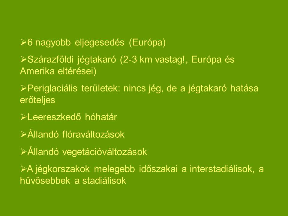 6 nagyobb eljegesedés (Európa)