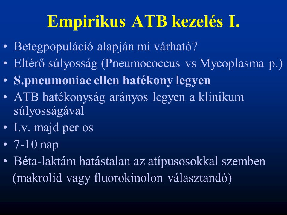 Empirikus ATB kezelés I.