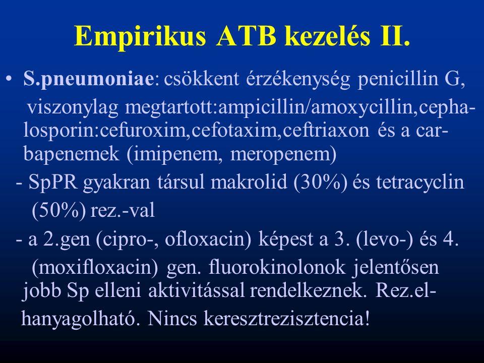 Empirikus ATB kezelés II.