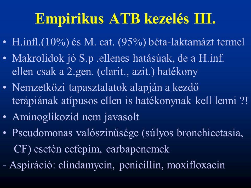Empirikus ATB kezelés III.