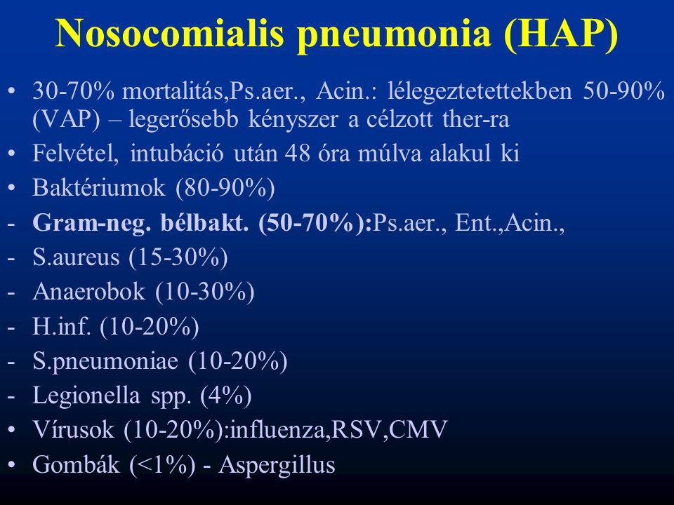 Nosocomialis pneumonia (HAP)
