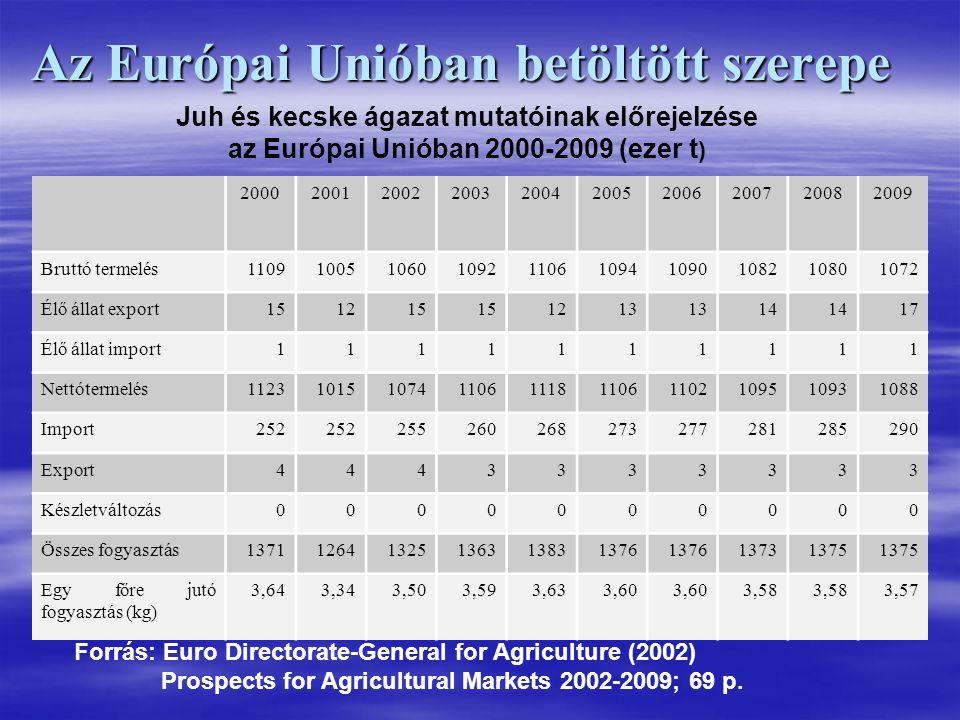 Az Európai Unióban betöltött szerepe