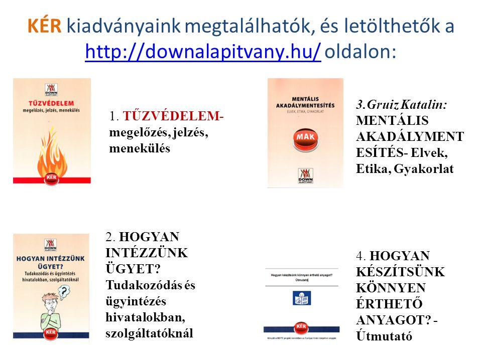 KÉR kiadványaink megtalálhatók, és letölthetők a http://downalapitvany