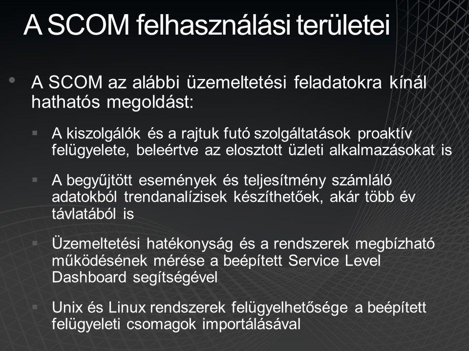 A SCOM felhasználási területei