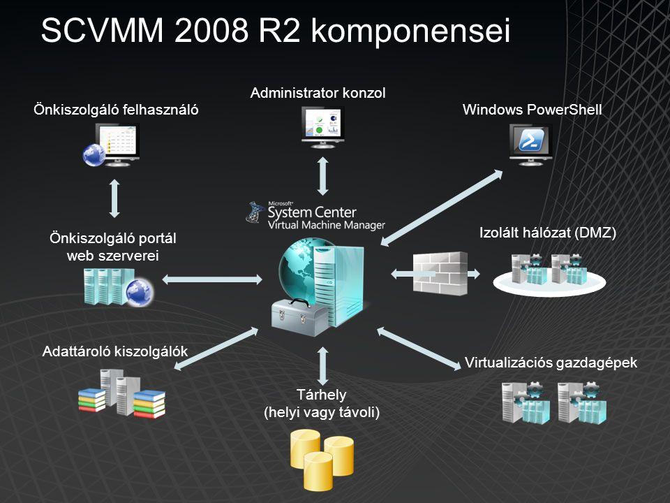 SCVMM 2008 R2 komponensei Administrator konzol