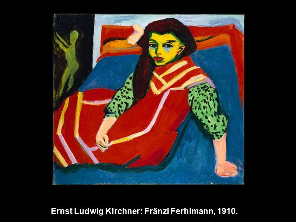 Ernst Ludwig Kirchner: Fränzi Ferhlmann, 1910.