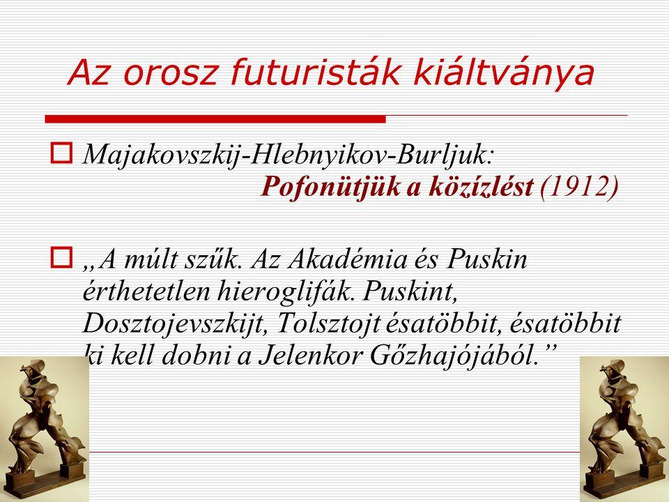 Az orosz futuristák kiáltványa