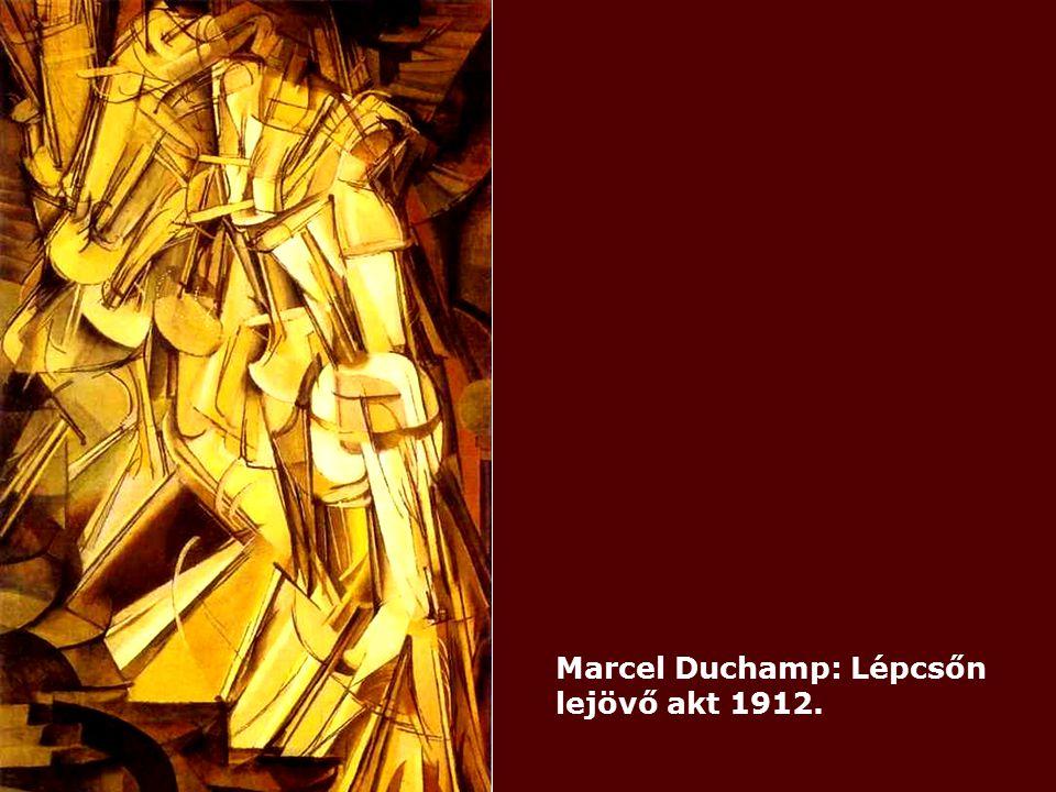 Marcel Duchamp: Lépcsőn lejövő akt 1912.