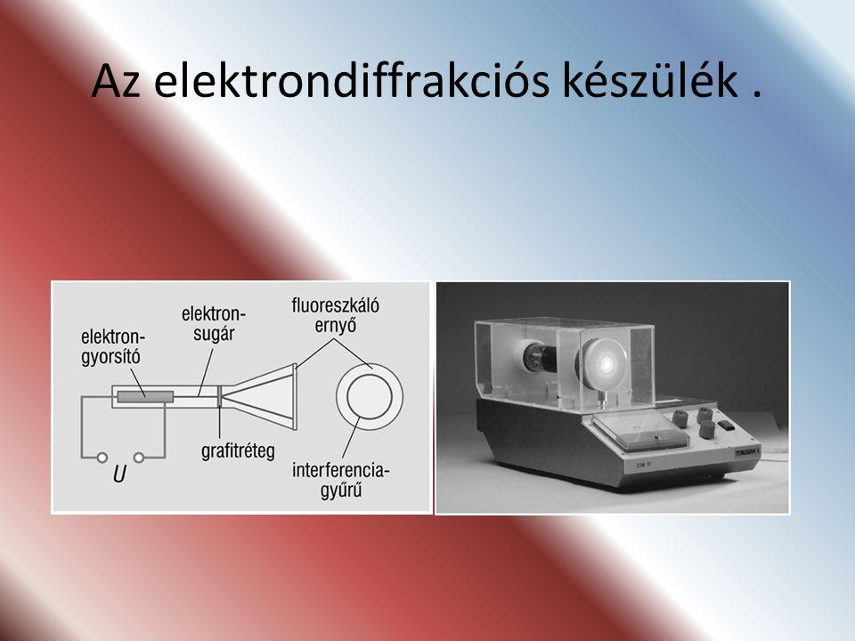 Az elektrondiffrakciós készülék .