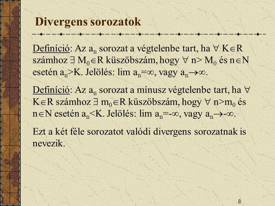 Divergens sorozatok