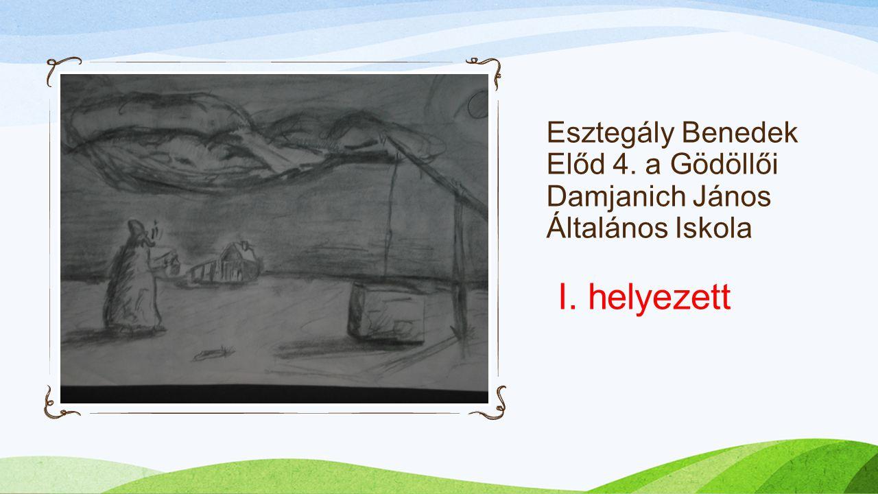Esztegály Benedek Előd 4. a Gödöllői Damjanich János Általános Iskola