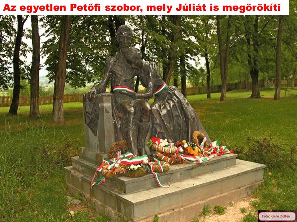 Az egyetlen Petőfi szobor, mely Júliát is megörökíti