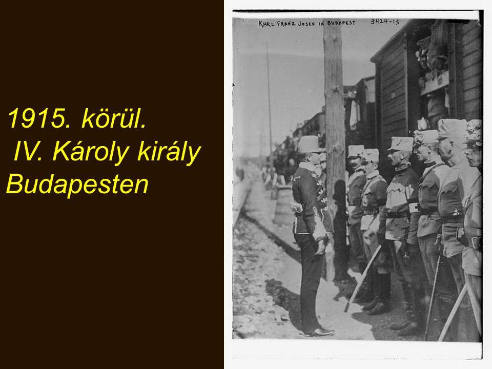 1915. körül. IV. Károly király Budapesten