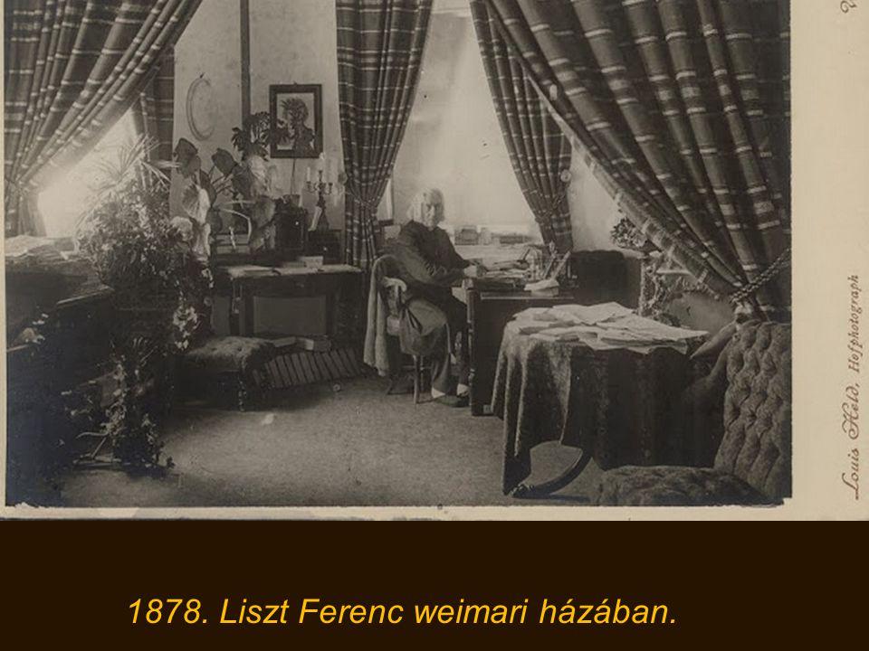 1878. Liszt Ferenc weimari házában.