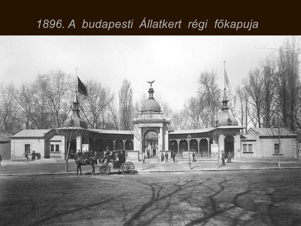 1896. A budapesti Állatkert régi főkapuja