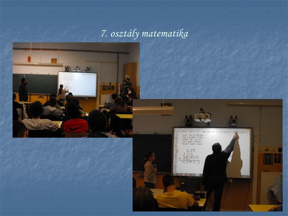 7. osztály matematika