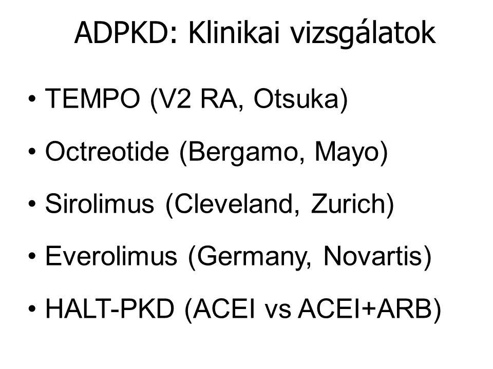 ADPKD: Klinikai vizsgálatok