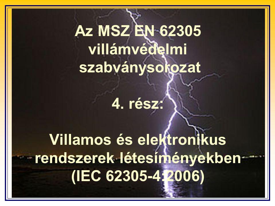Az MSZ EN 62305 villámvédelmi szabványsorozat 4